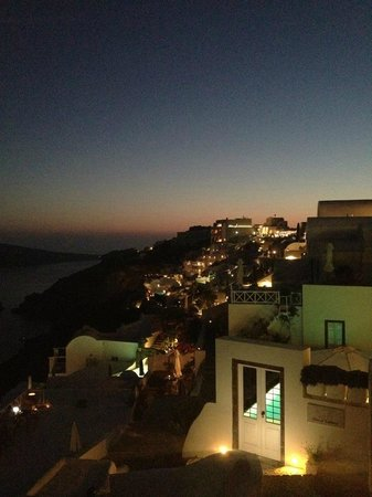 Nostos Apartments: Night view from the room