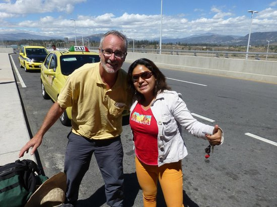 Cabañas Bird Planet: Paty dropping us off at the airport in Quito