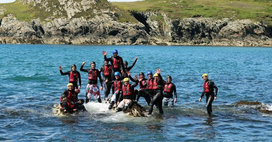 Boulder Adventures: Coasteering off Anglesey.