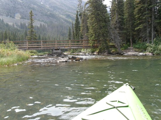 Kayaking On Swiftcurrent Lake Picture Of Swiftcurrent