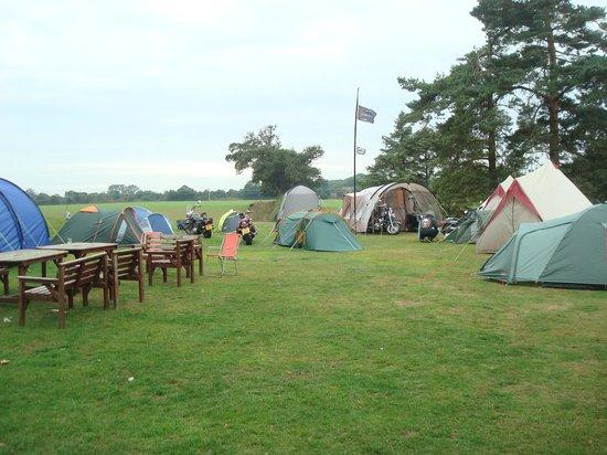 The Salhouse Lodge: Camping area