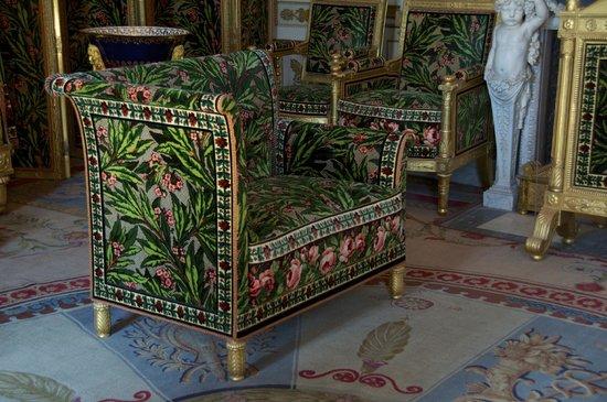 Fontainebleau, France: Beautiful furnishings and fabrics