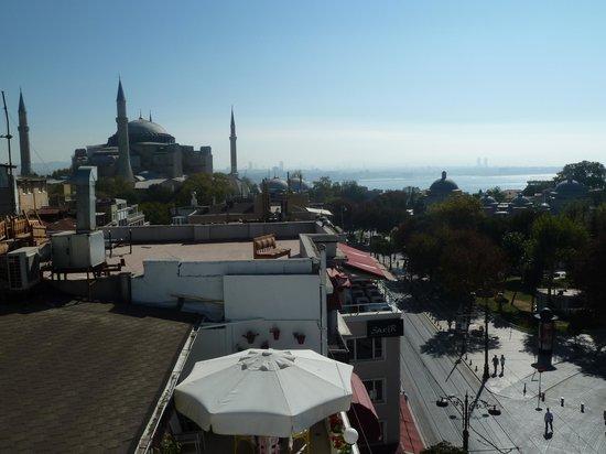Ambassador Hotel: Terrace view - Hagia Sophia to the left