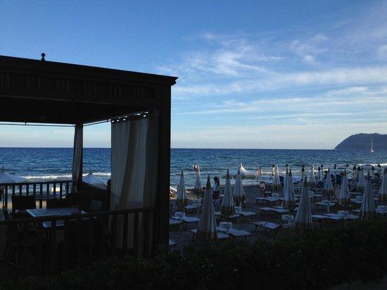 Grand Hotel Alassio : Strandbereich