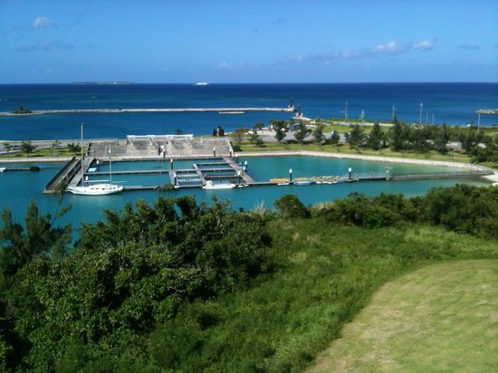 Motobu Genki Village : view from Marine Piazza Okinawa