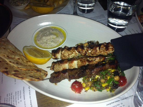 The Rocks: Mixed meat kebabs
