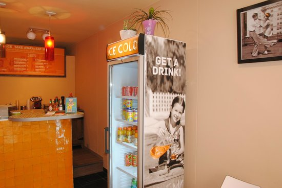 Pasta Delizia: fridge & counter