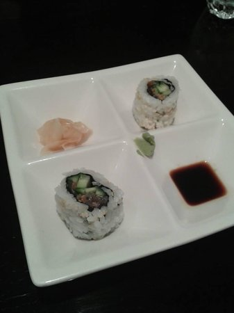 Wasabi Japanese Cuisine: free rolls before your meal start