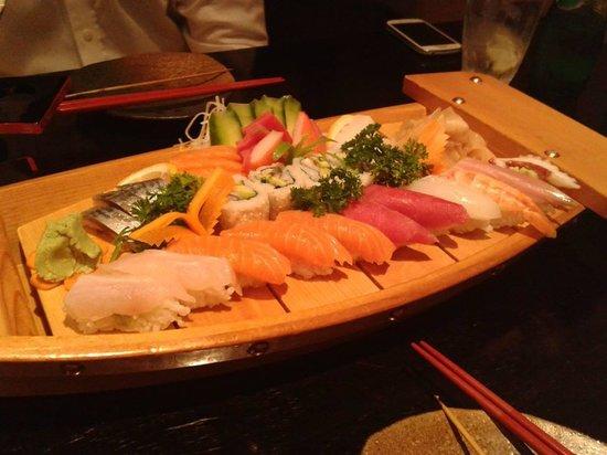 Wasabi Japanese Cuisine: combination sushi boat