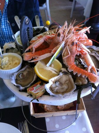 La cabane du chapus : Plateau de fruit de mer pour 1 personne.