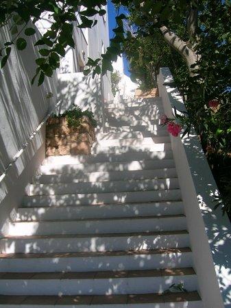 Panorama Hotel: Stufen, Stufen, Stufen bis zum Zimmer (aber dafür dann ein toller Blick)