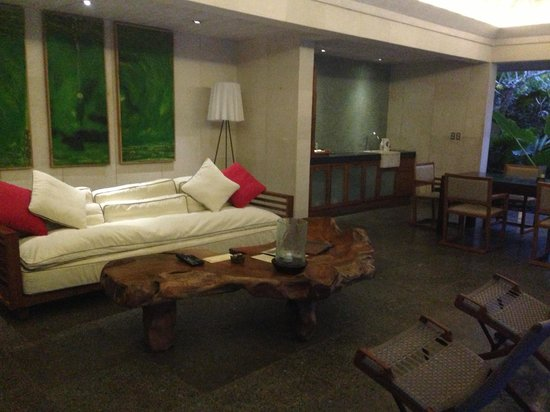 Chapung SeBali Resort and Spa: Living area