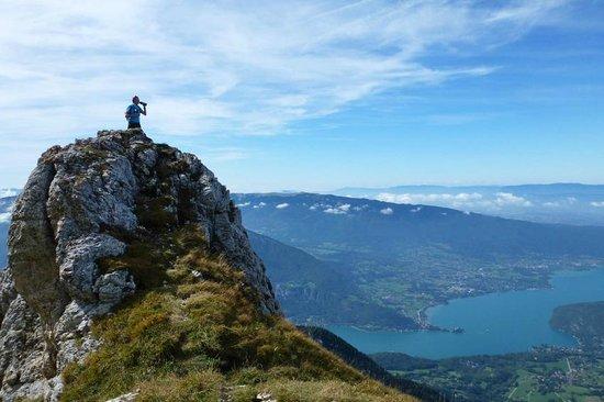 La Tournette : Vue sur le lac d'Annecy
