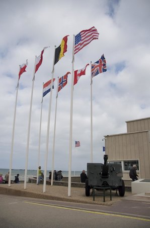Flags of Nations next to the D-Day Museum, just across the parking lot from Arroplace