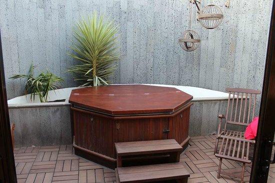 Hotel Villa Vik: Secuded hot tub