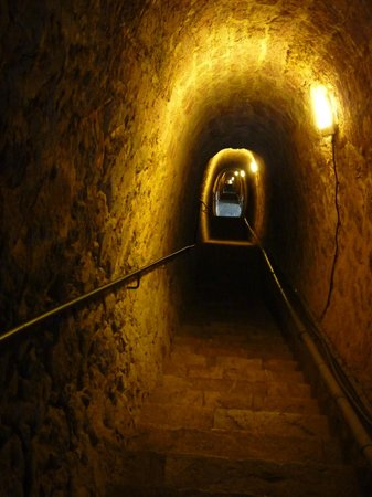 "Fort Liberia: The ""secret"" tunnel of stairs to the walled town below the fort"