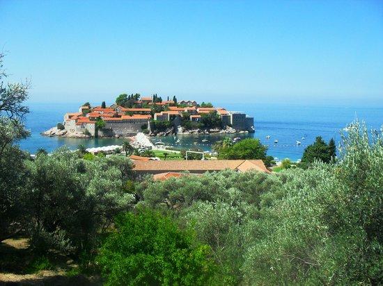 Hotel Poseidon : Sveti Stefan - Vista dall'alto