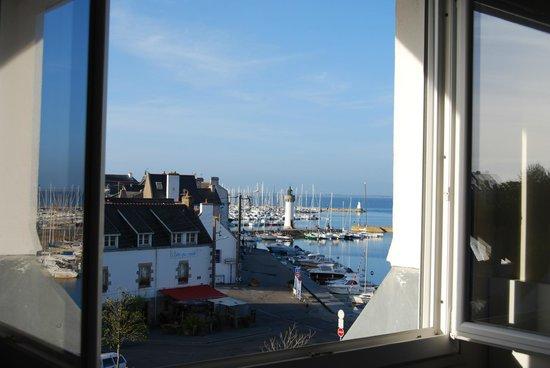 Hotel Port Haliguen : vue de notre fenêtre de chambre