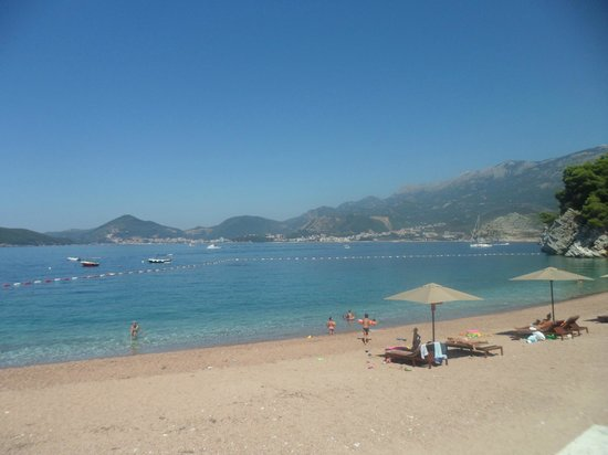 Hotel Poseidon: Sveti Stefan - Spiaggia