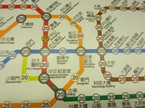 ดิ โอกุระ เพรสทีจ ไทเป: 地下鉄の立地