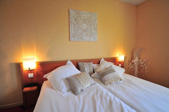 Hotel-Restaurant Ambotel : CHAMBRE LITS JUMEAUX