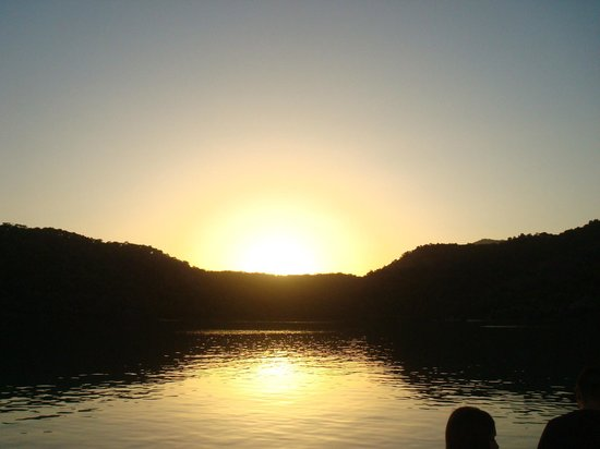 Sea Horse: Sun set at the Seahorse beach blue lagoon.