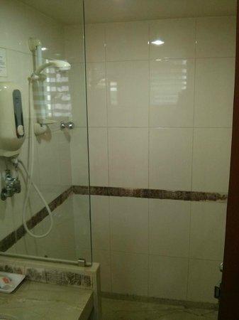 Hotel Transit: height adjustable shower