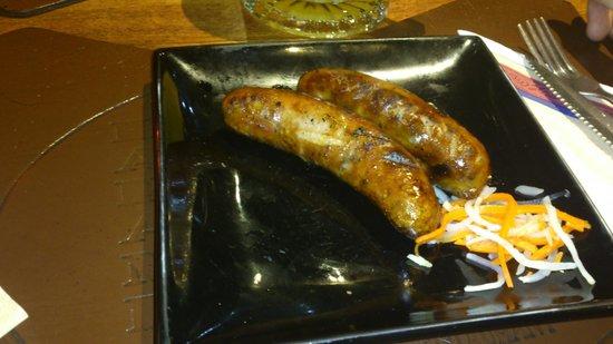 La Pampa: grilled sausages