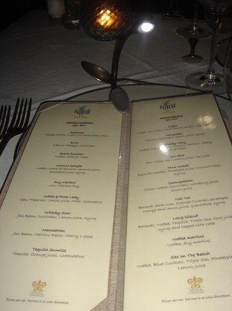 Le Jaroen : Restaurant's menu