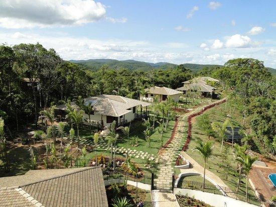 Guaramiranga, CE: Vista superior do hotel