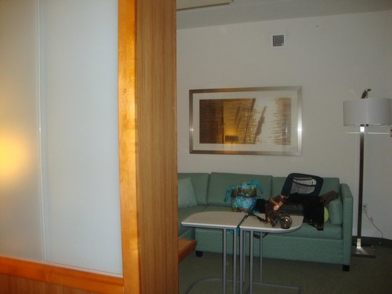 SpringHill Suites Chattanooga Downtown/Cameron Harbor: Divided area separates Sleeping area from Sofa area