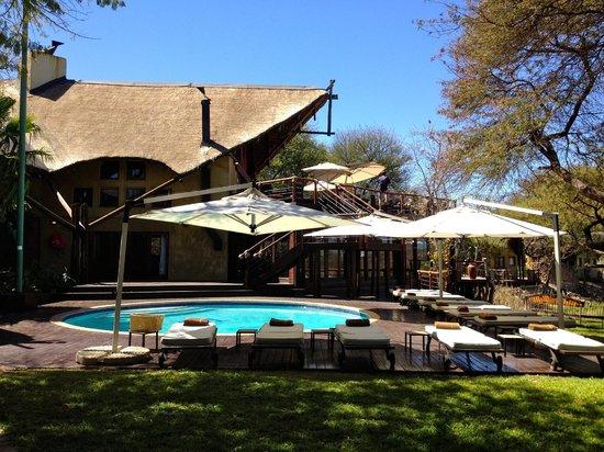 Tau Game Lodge: rooftop bar