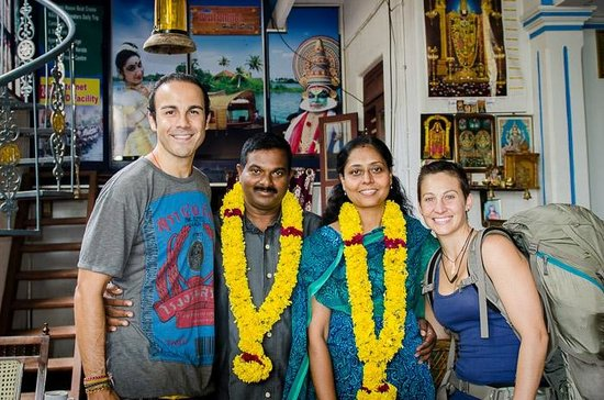 Ashtamudi Homestay: Us with Uma & Subash