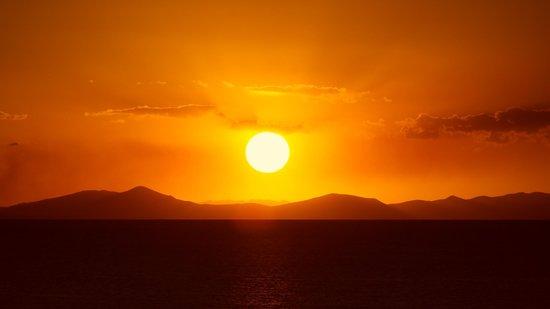 Hotel Rosario Lago Titicaca: sunset
