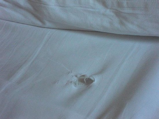 Seyir Village Hotel : Hole in bed sheet