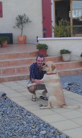 Les Cordelines: Barney the friendly dog!