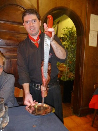 Costelão Gaucho: One of the 11 meats sliced and served at your table