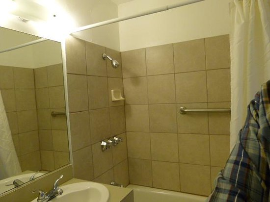 Viking Motel: Graet bathroom and shower