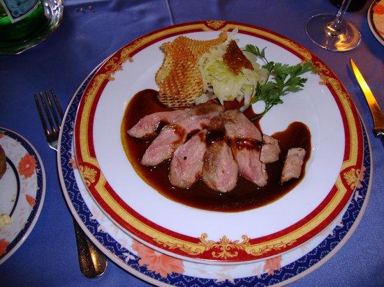 Restaurant La Couronne: Duck breast in citrus sauce