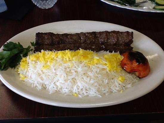 Rumi Restaurant: koobideh (ground beef kebab)