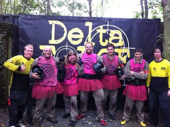 Delta Force Paintball Lichfield: The lads in pink