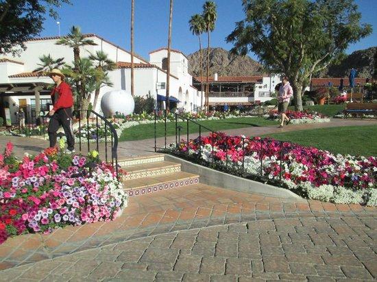 La Quinta Old Town Villas: Jardins lindíssimos, próximos à entrada.
