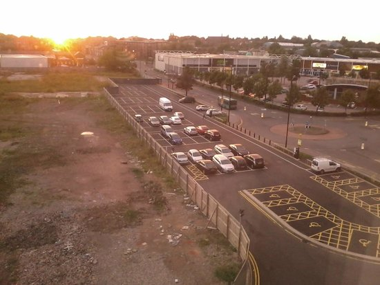 Premier Inn Walsall Town Centre Hotel: side car park, viewed from the room