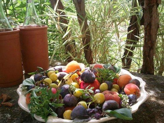 Domaine La Garelle: Vino & Fruta de la zona