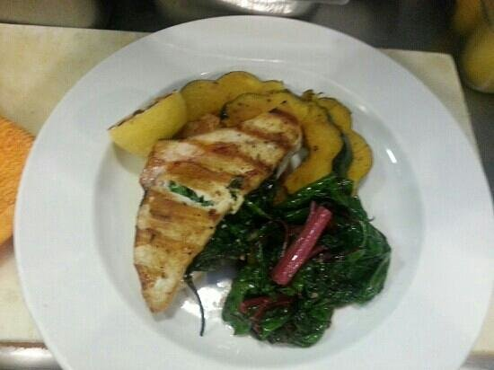Schooners Wharf: stuff swordfish with spinach and fetta chese