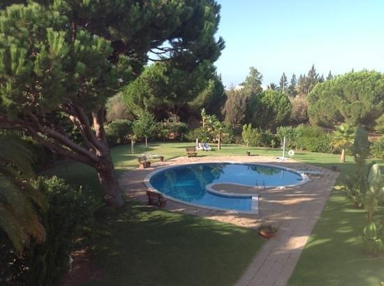 Solar das Palmeiras: our view of the pool and garden,,,,, perfect!!