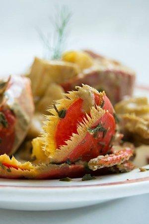 Kermoor Hotel Audierne : ragout de homard  au  cidre (spécialité du  chef)