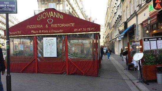 Giovanni: the tables are all under the big tent