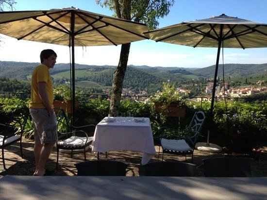 Capannelle Wine Resort : breakfast table
