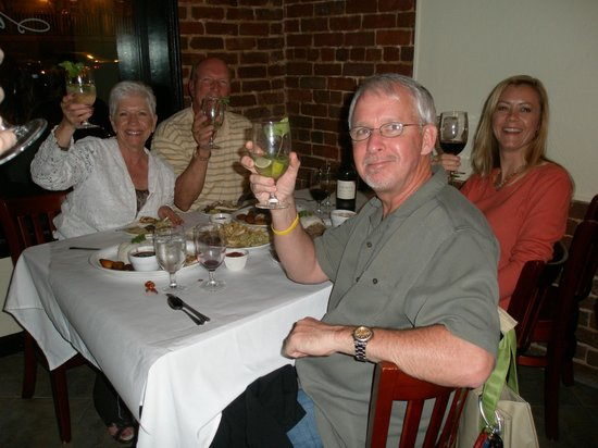 Mojito's Cuban American Bistro : Salud/Cheers wishes from our Jerry and Lenos Mucklow as well as the Bassets
